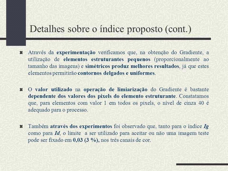 Detalhes sobre o índice proposto (cont.)