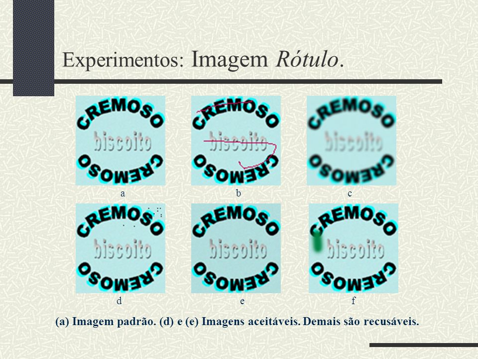 Experimentos: Imagem Rótulo.