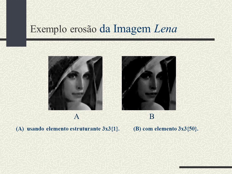 Exemplo erosão da Imagem Lena