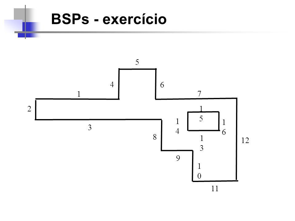 BSPs - exercício 5 4 6 1 7 2 15 14 16 3 8 13 12 9 10 11