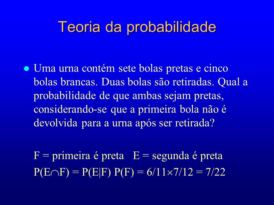 Teoria da probabilidade