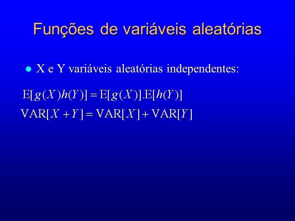 Funções de variáveis aleatórias