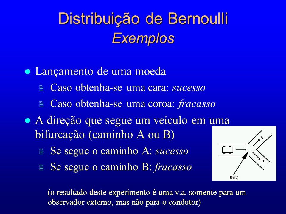 Distribuição de Bernoulli Exemplos