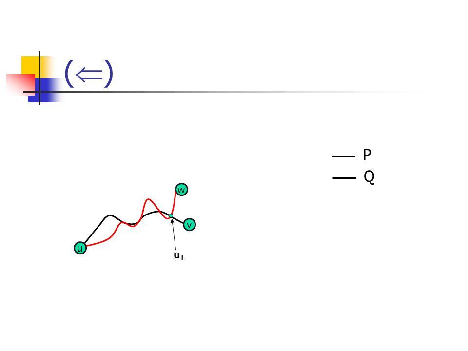 () P Q w v u u1