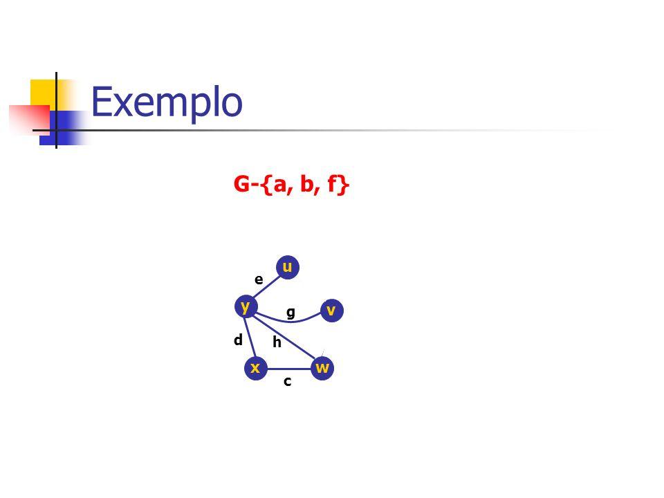Exemplo G-{a, b, f} u e y g v d h x w c