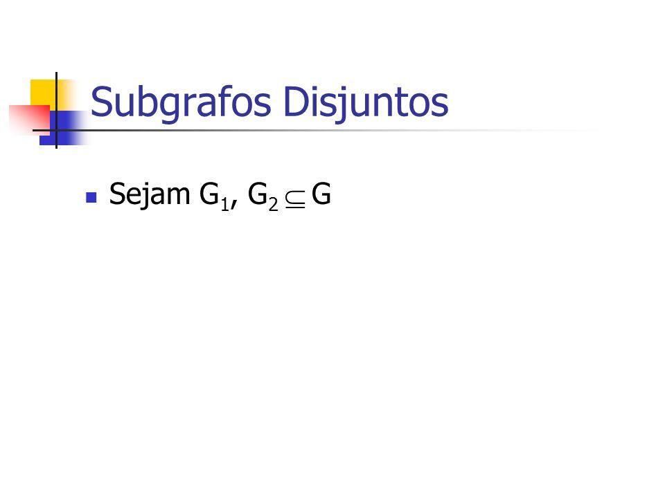 Subgrafos Disjuntos Sejam G1, G2  G