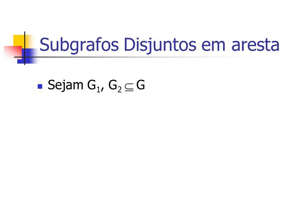 Subgrafos Disjuntos em aresta