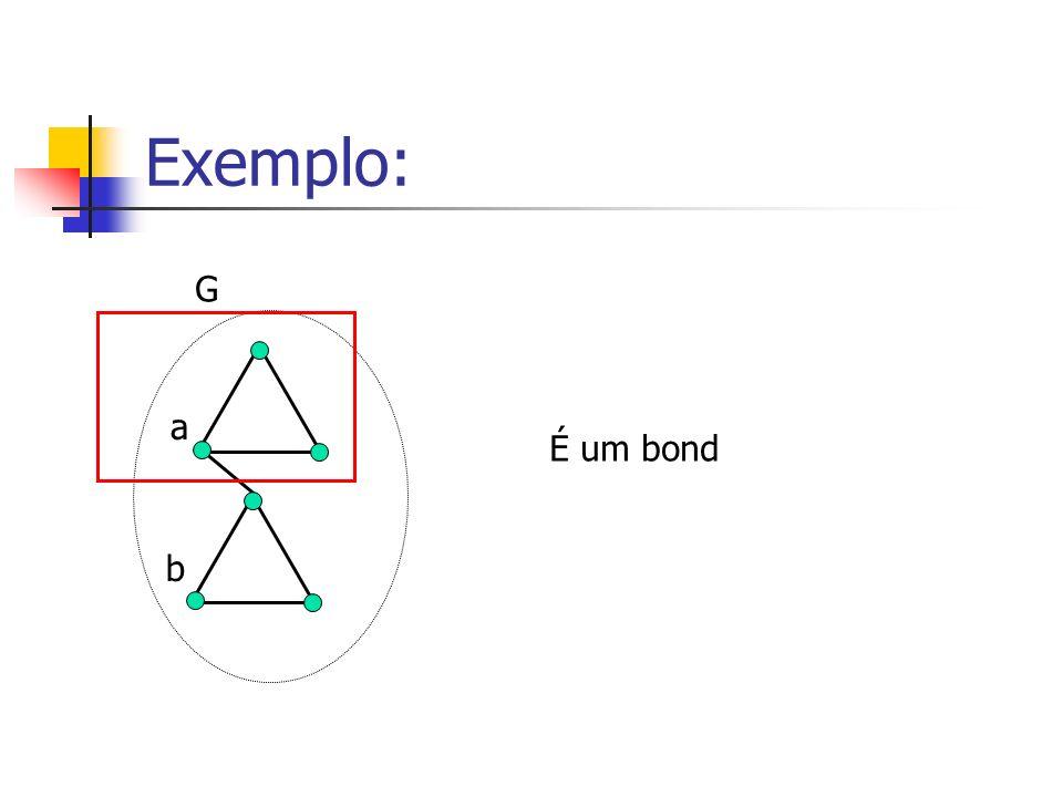 Exemplo: G a É um bond b