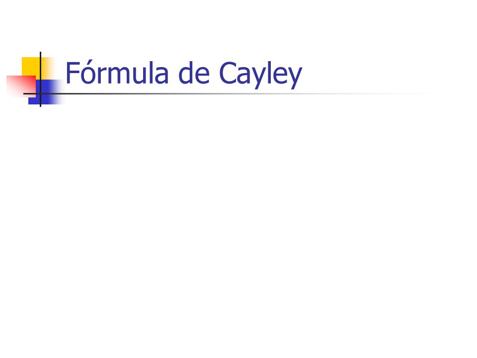Fórmula de Cayley
