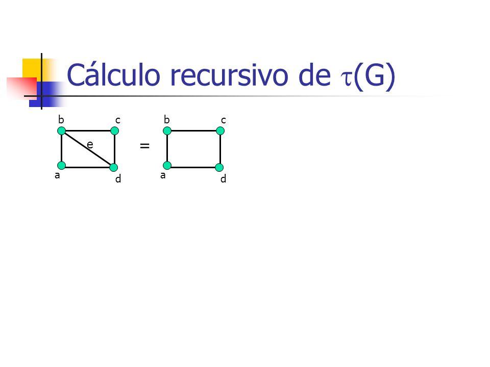 Cálculo recursivo de (G)