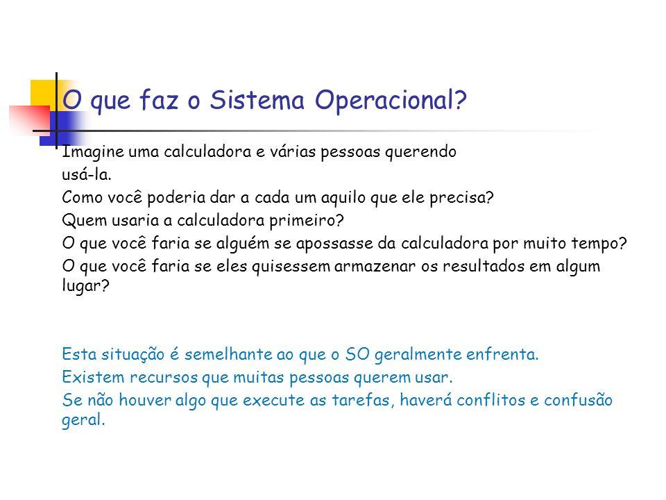 O que faz o Sistema Operacional