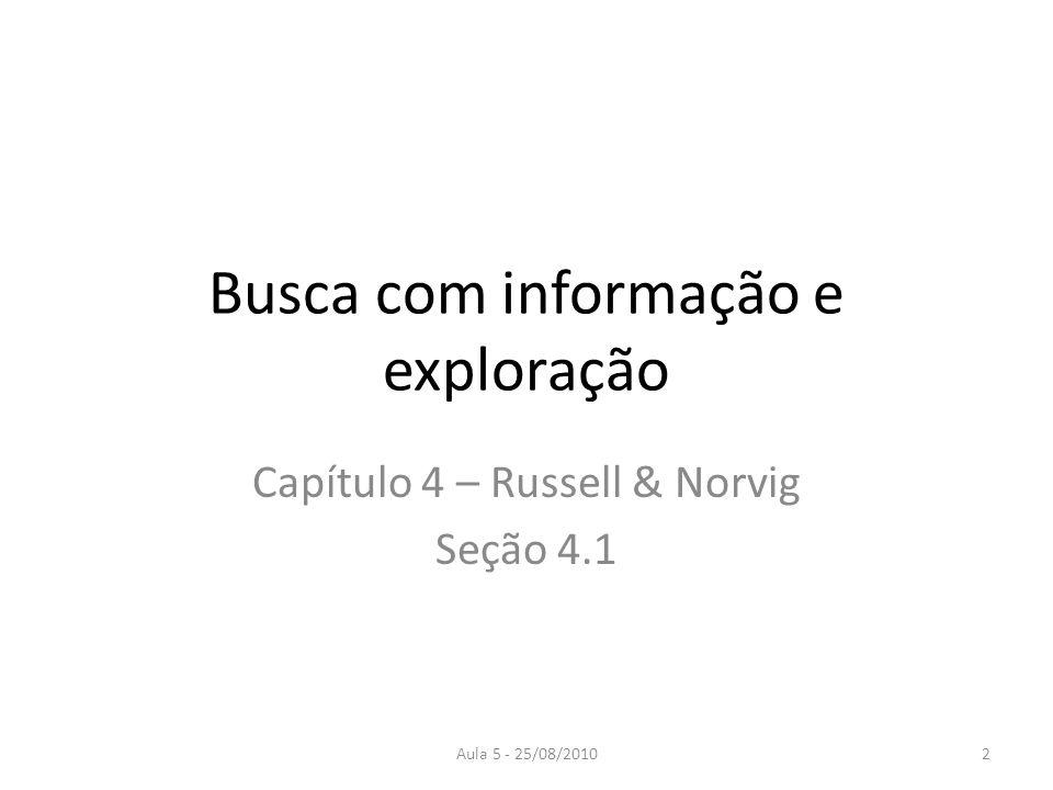Busca com informação e exploração
