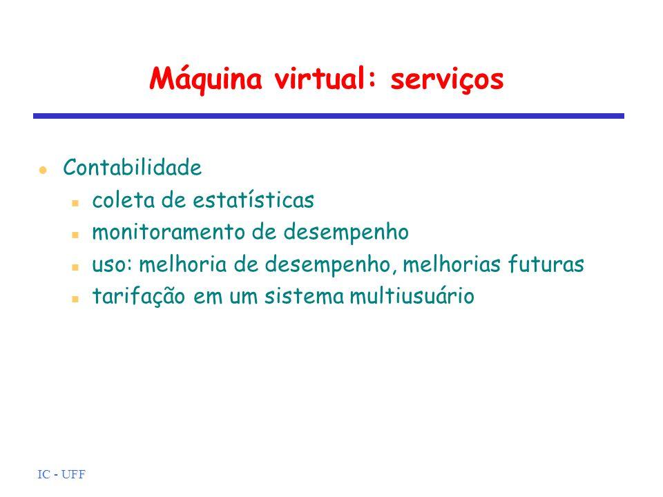 Máquina virtual: serviços