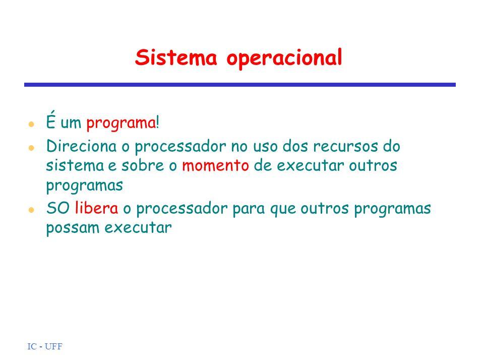 Sistema operacional É um programa!