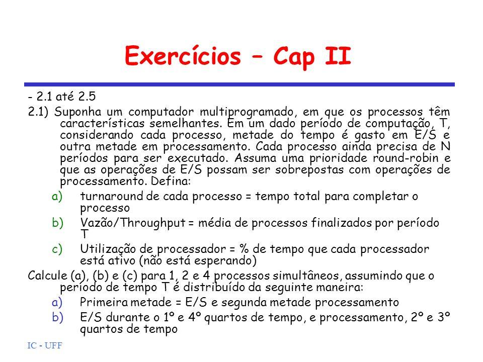 Exercícios – Cap II - 2.1 até 2.5
