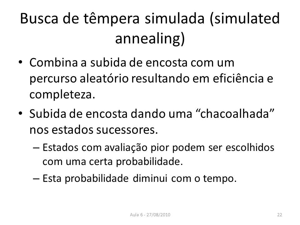 Busca de têmpera simulada (simulated annealing)
