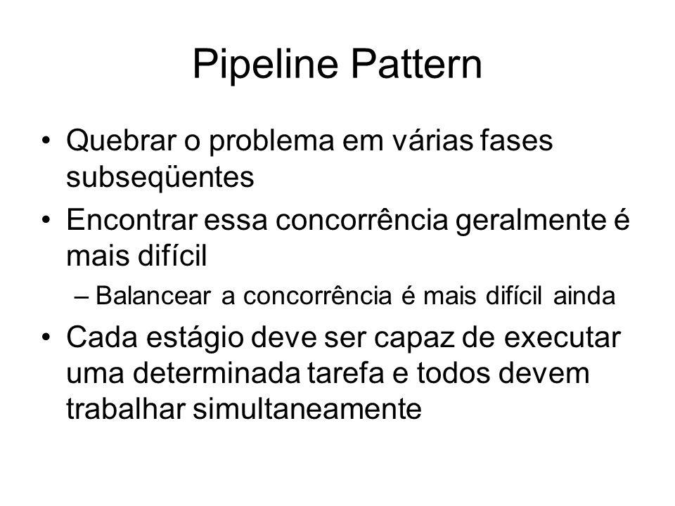 Pipeline Pattern Quebrar o problema em várias fases subseqüentes