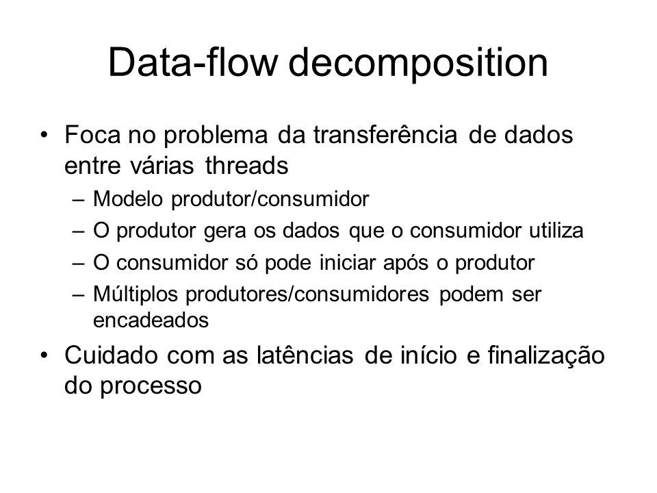 Data-flow decomposition