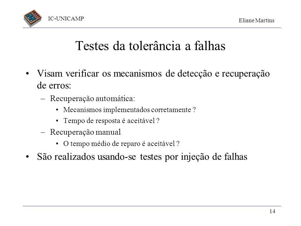 Testes da tolerância a falhas