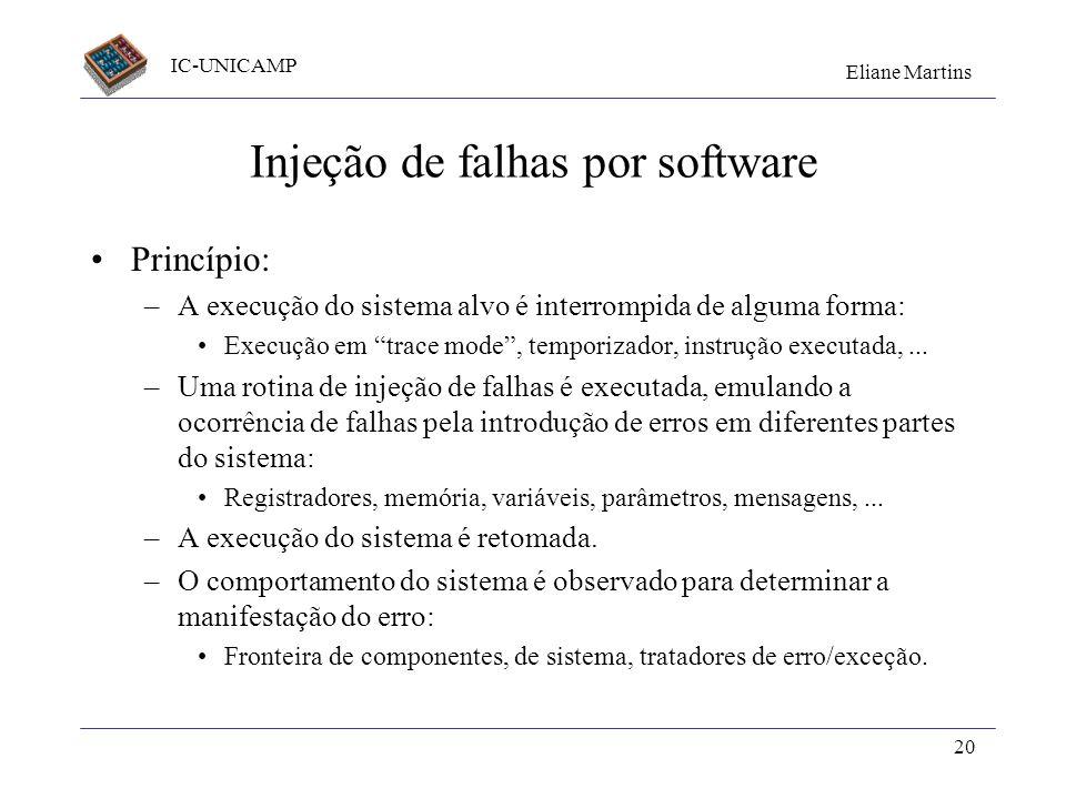 Injeção de falhas por software