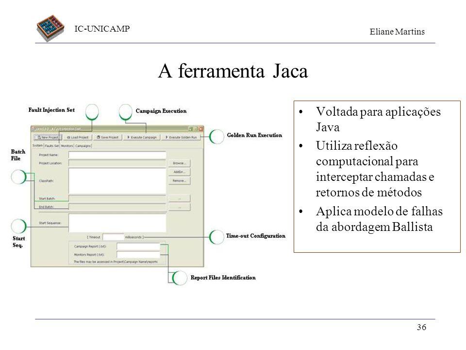 A ferramenta Jaca Voltada para aplicações Java