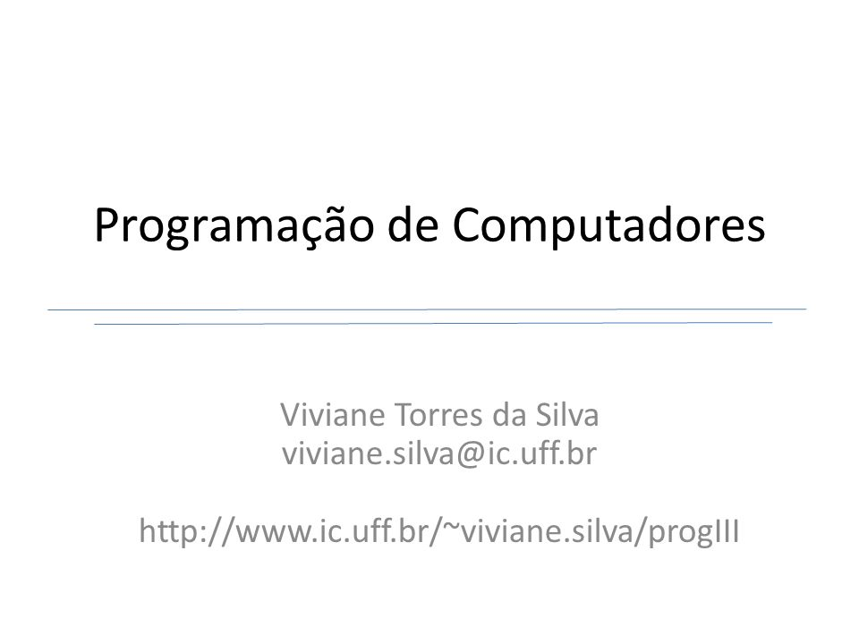 Programação de Computadores