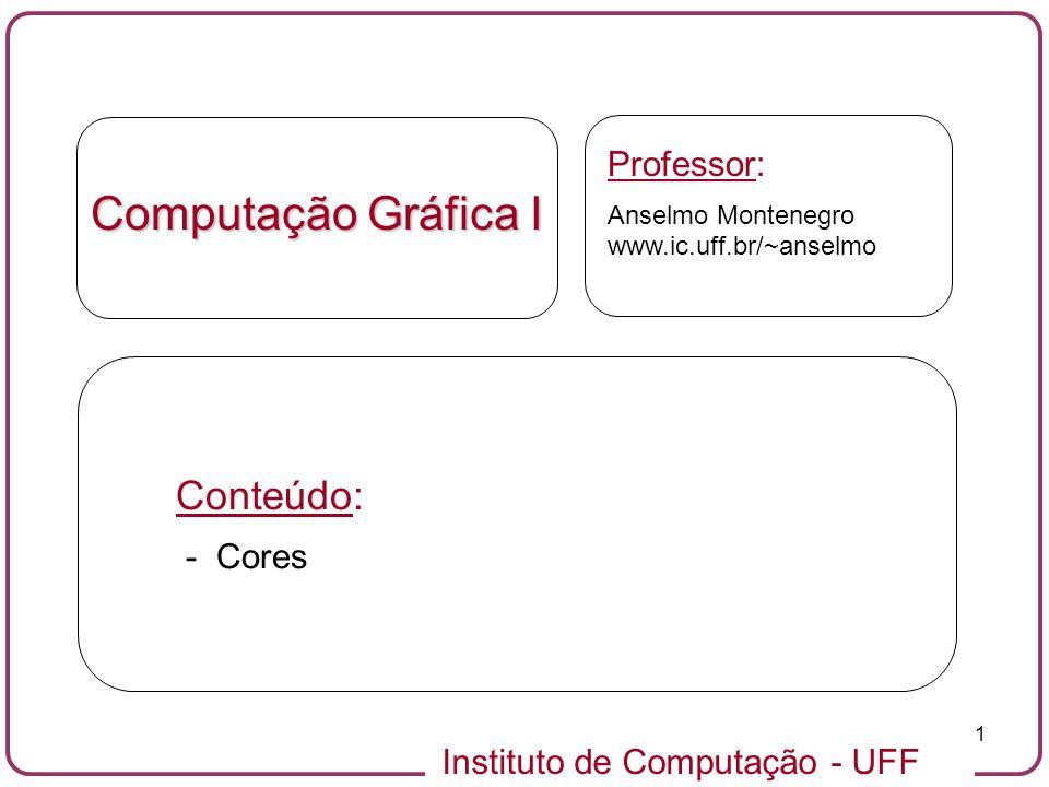 Computação Gráfica I Conteúdo: Professor: - Cores