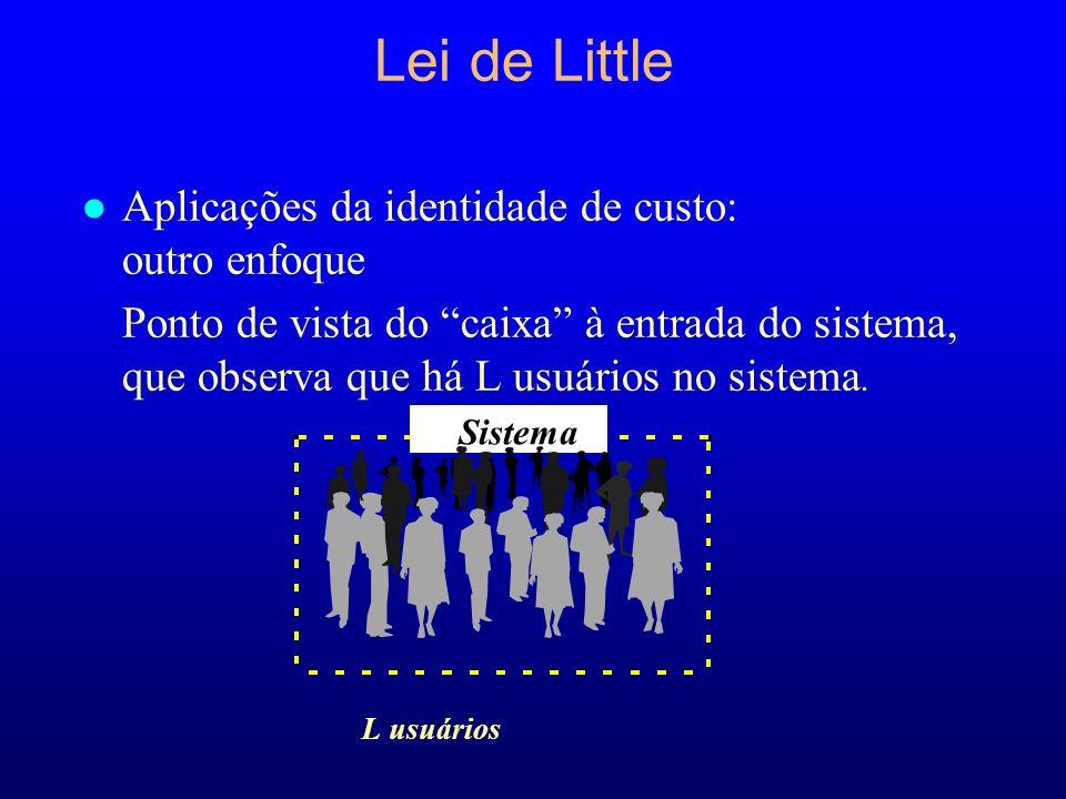 Lei de Little Aplicações da identidade de custo: outro enfoque