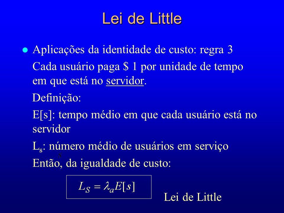 Lei de Little Aplicações da identidade de custo: regra 3