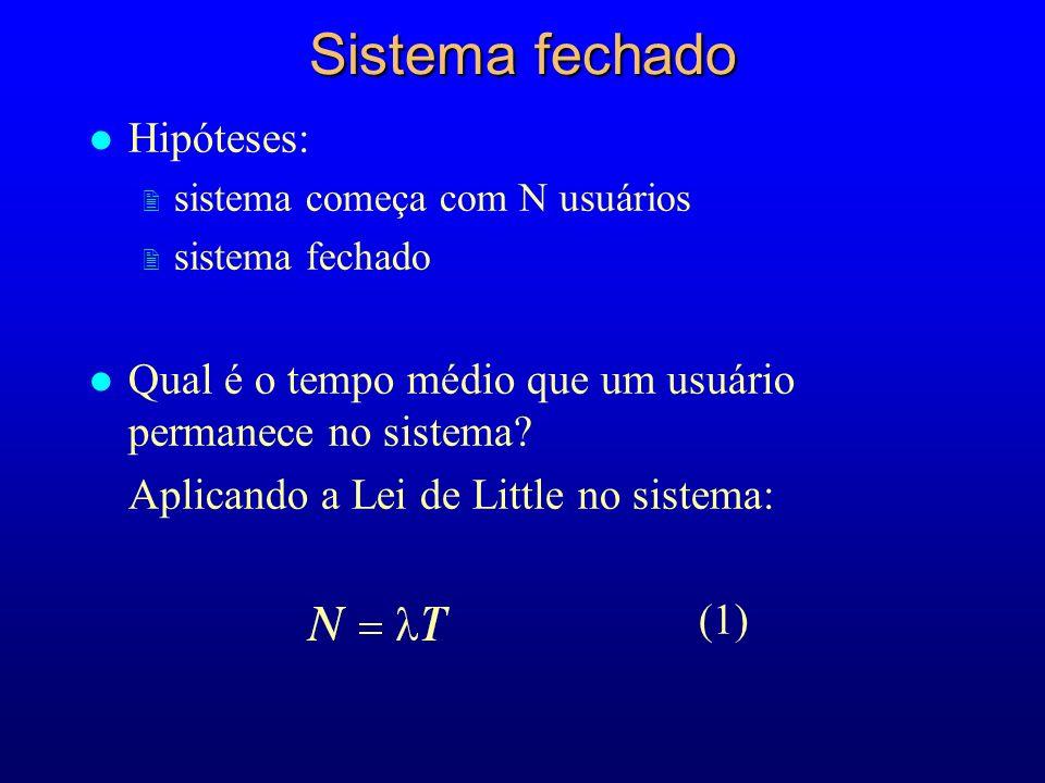Sistema fechado Hipóteses: