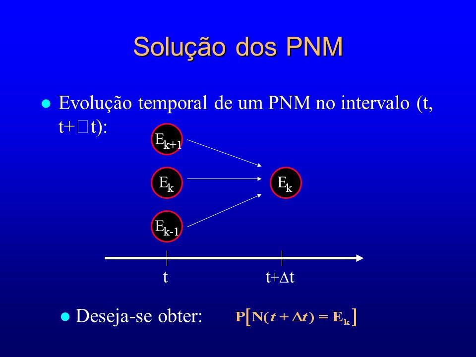 Solução dos PNM Evolução temporal de um PNM no intervalo (t, t+t):