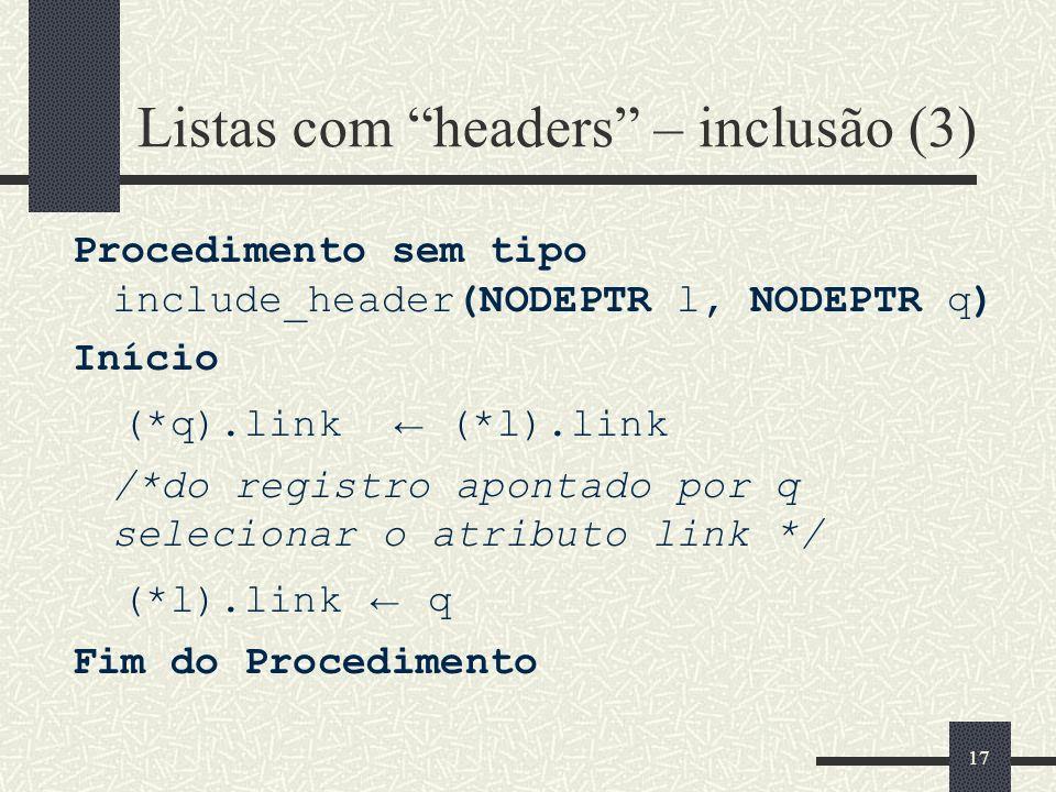 Listas com headers – inclusão (3)