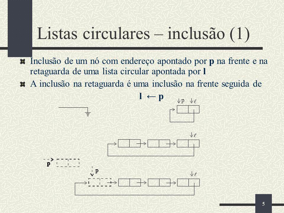 Listas circulares – inclusão (1)