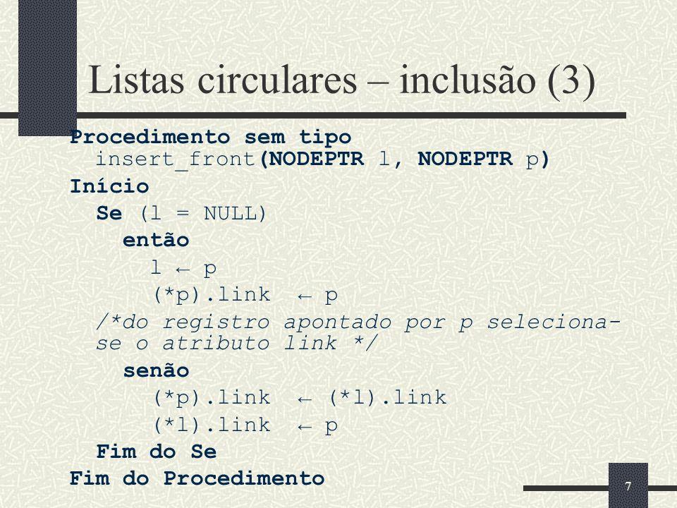 Listas circulares – inclusão (3)