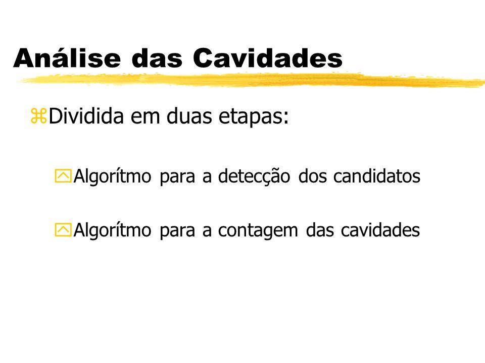 Análise das Cavidades Dividida em duas etapas: