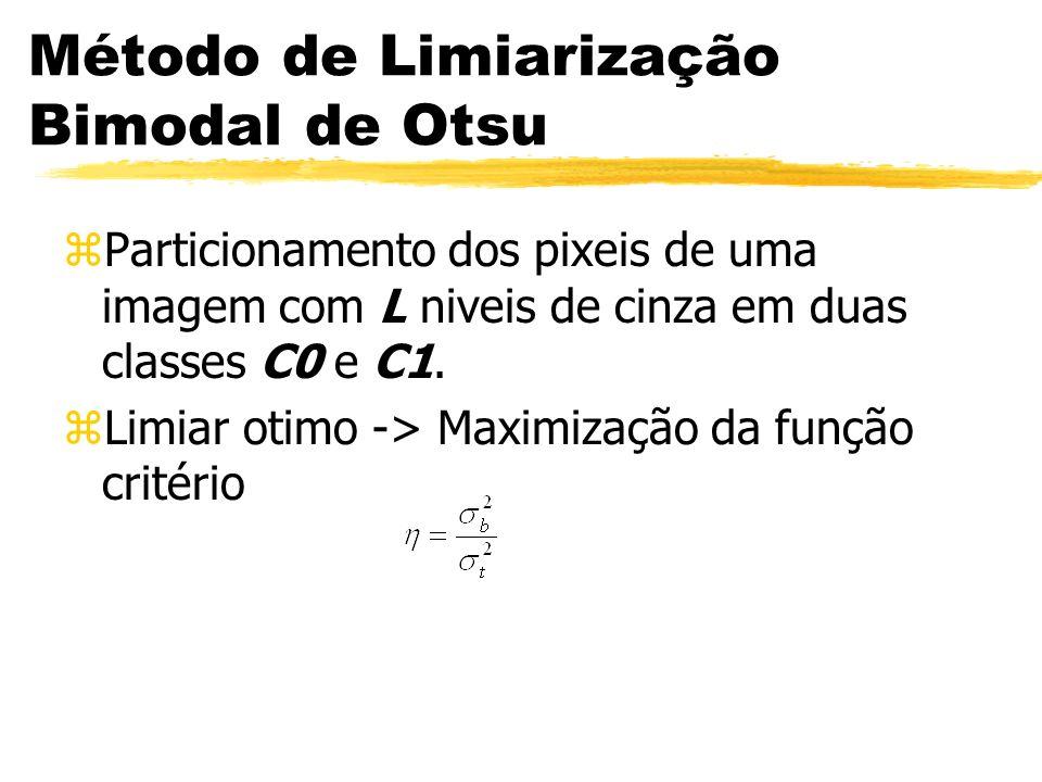 Método de Limiarização Bimodal de Otsu