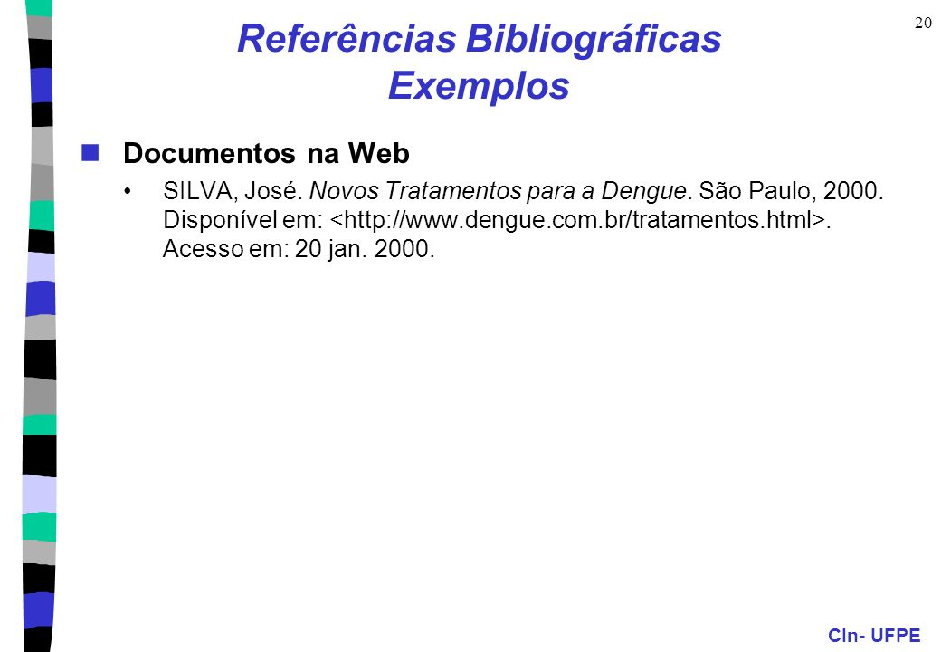 Referências Bibliográficas Exemplos