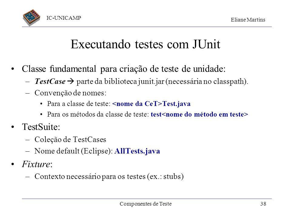 Executando testes com JUnit