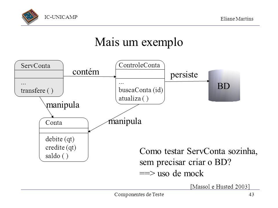 Mais um exemplo contém persiste BD manipula manipula