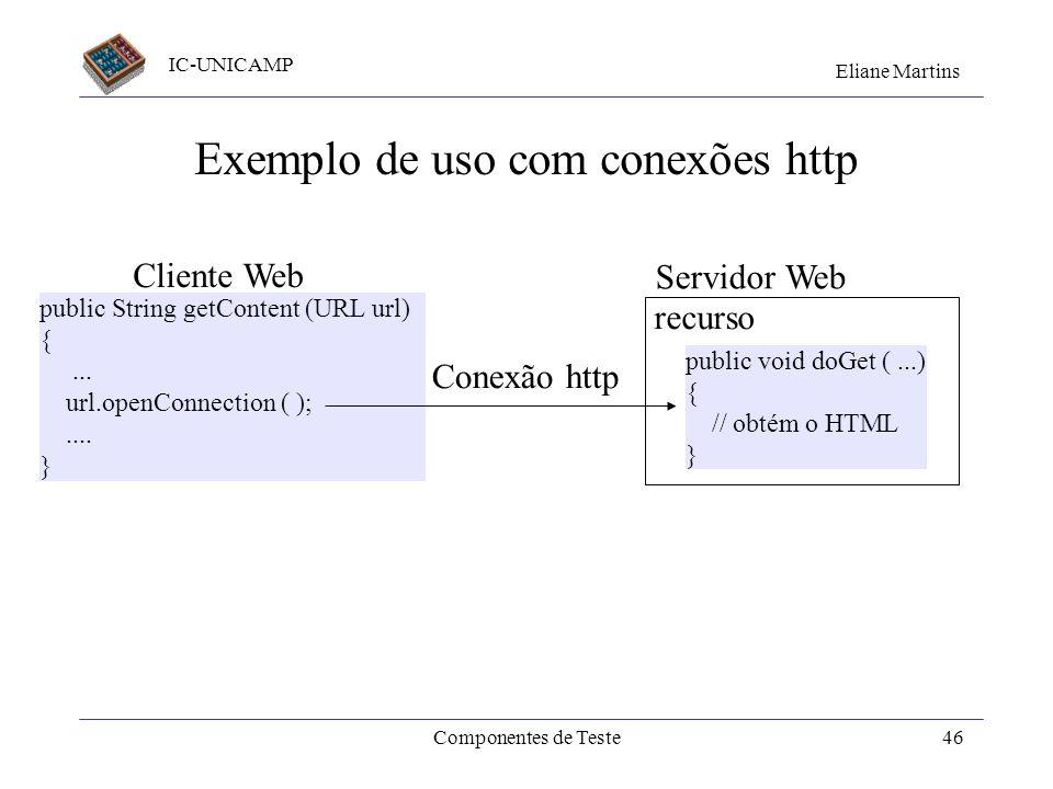 Exemplo de uso com conexões http