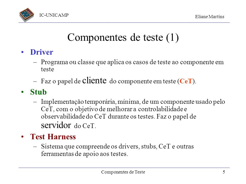 Componentes de teste (1)