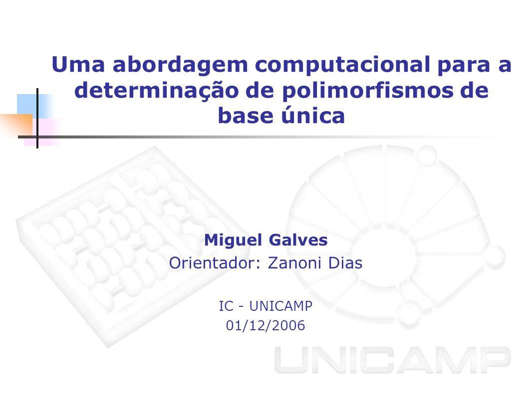 Miguel Galves Orientador: Zanoni Dias IC - UNICAMP 01/12/2006