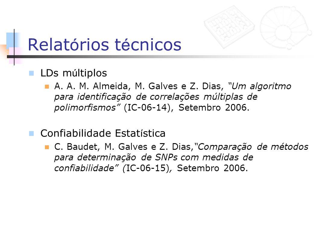 Relatórios técnicos LDs múltiplos Confiabilidade Estatística