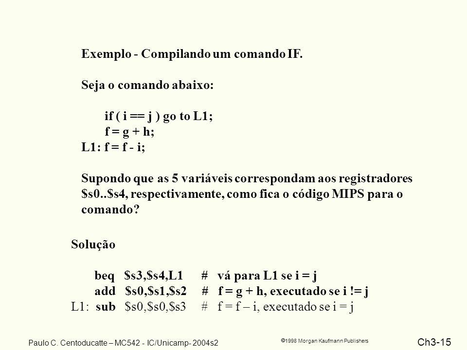 Exemplo - Compilando um comando IF.