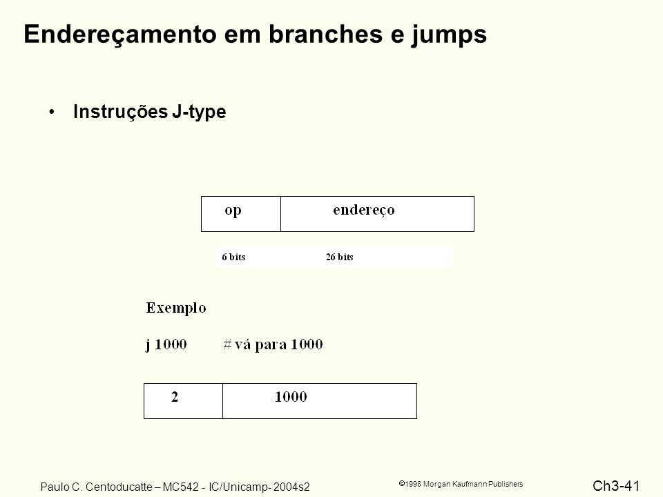 Endereçamento em branches e jumps