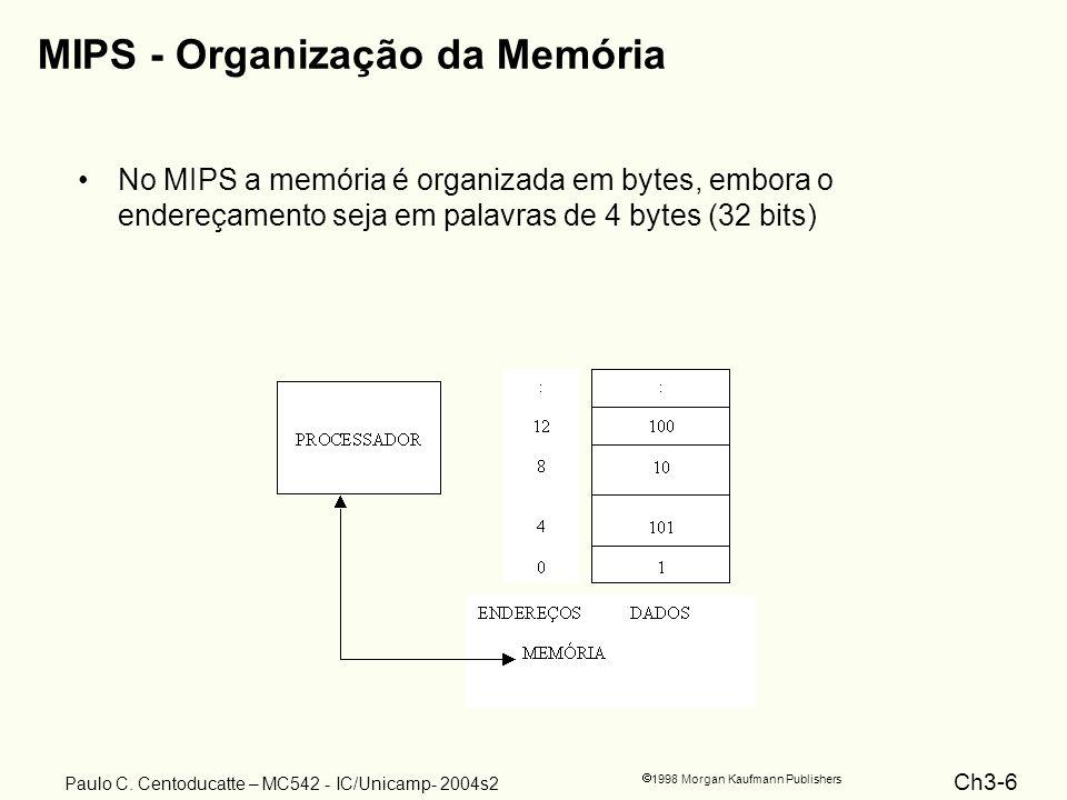 MIPS - Organização da Memória