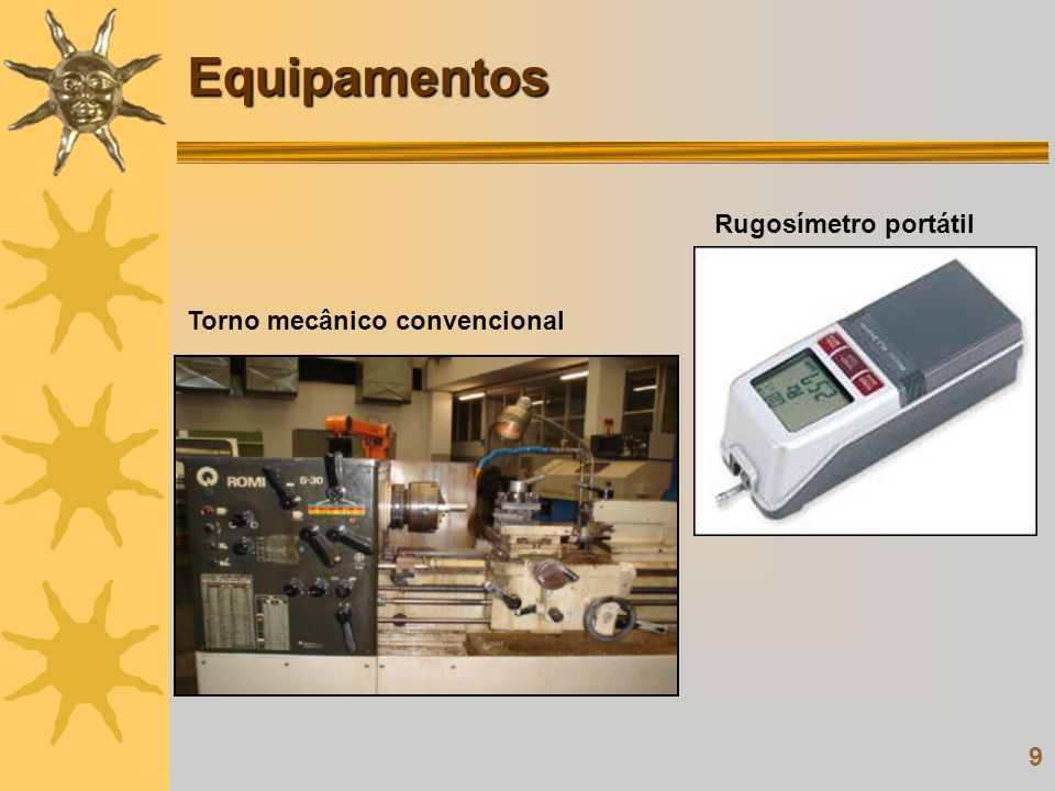 Equipamentos Rugosímetro portátil Torno mecânico convencional