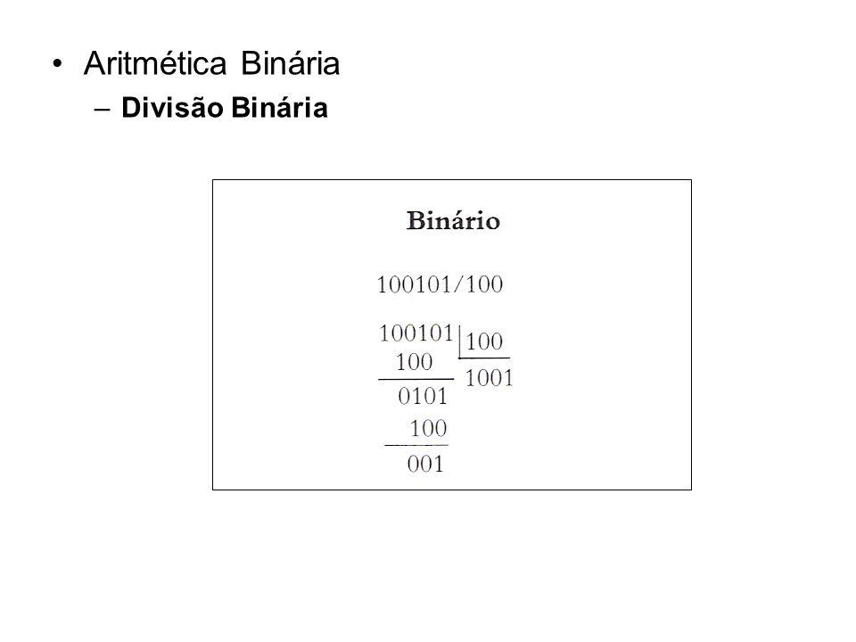 Aritmética Binária Divisão Binária