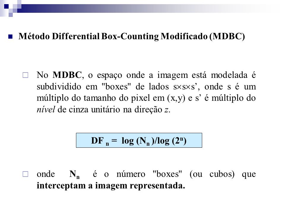 Método Differential Box-Counting Modificado (MDBC)