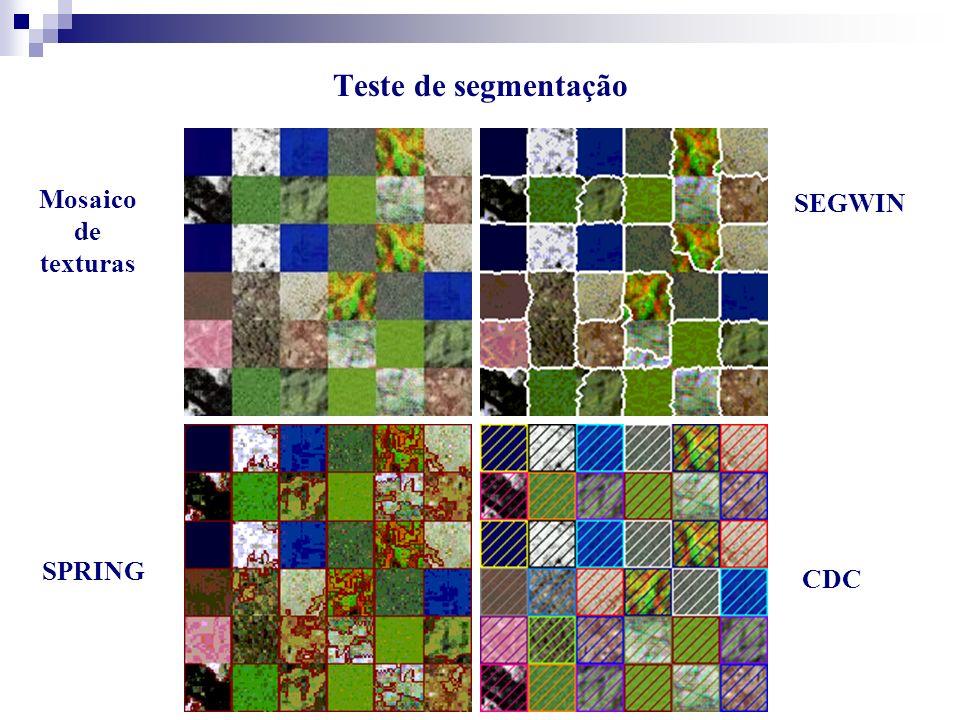 Teste de segmentação Mosaico de texturas SPRING SEGWIN CDC
